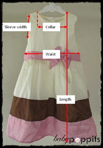 Measurement : Sleeveless dress