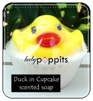 Duck in Cupcake scented soap