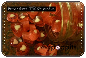 Personalized 'STICKY candies