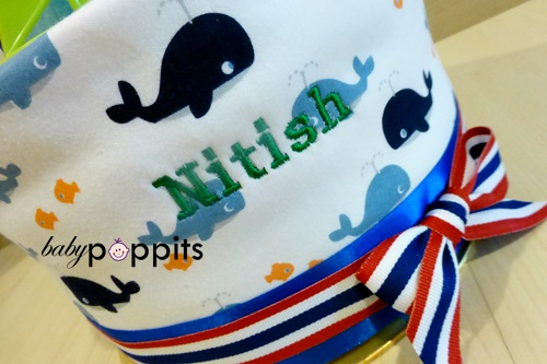 Nitish One Tier Diaper Cake - Click Image to Close