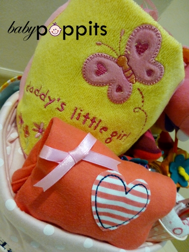 Baby's First Shoes Two Tier Diaper Cake - Click Image to Close