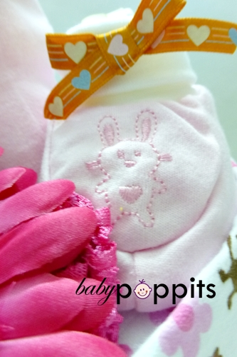 Lil' Princess Two Tier Diaper Cake - Click Image to Close