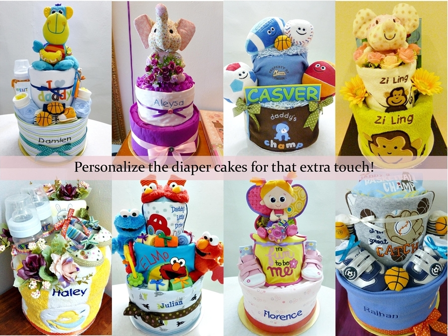 Baby Gift Baskets Malaysia : Babypoppits baby diaper cakes towel and